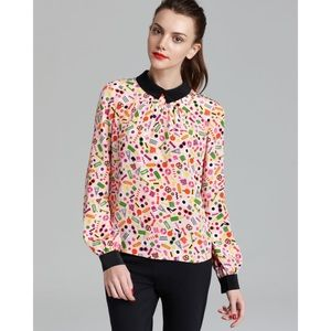 kate spade Tops - Kate Spade Ksny X Darcel NYC Shelley Silk Blouse